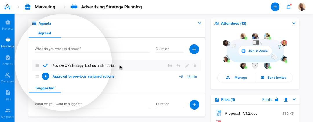 Agenda timer - meeting management software