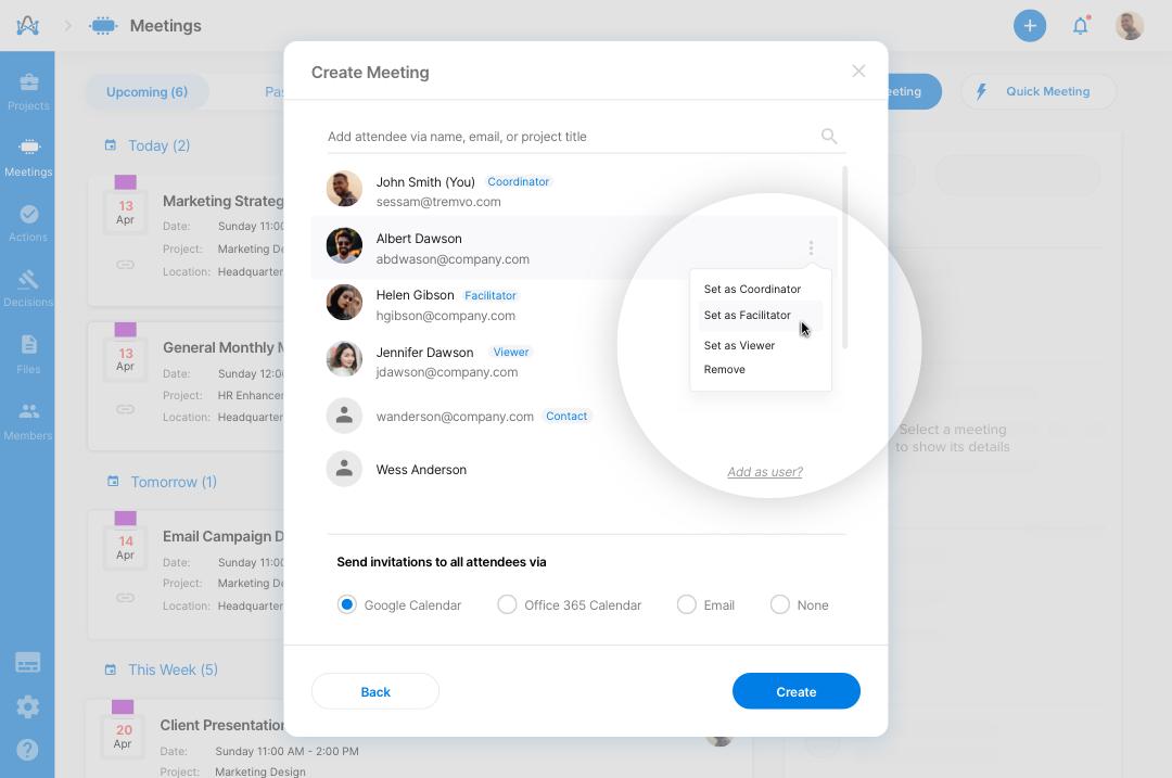 Virtual meeting best practice - assign roles