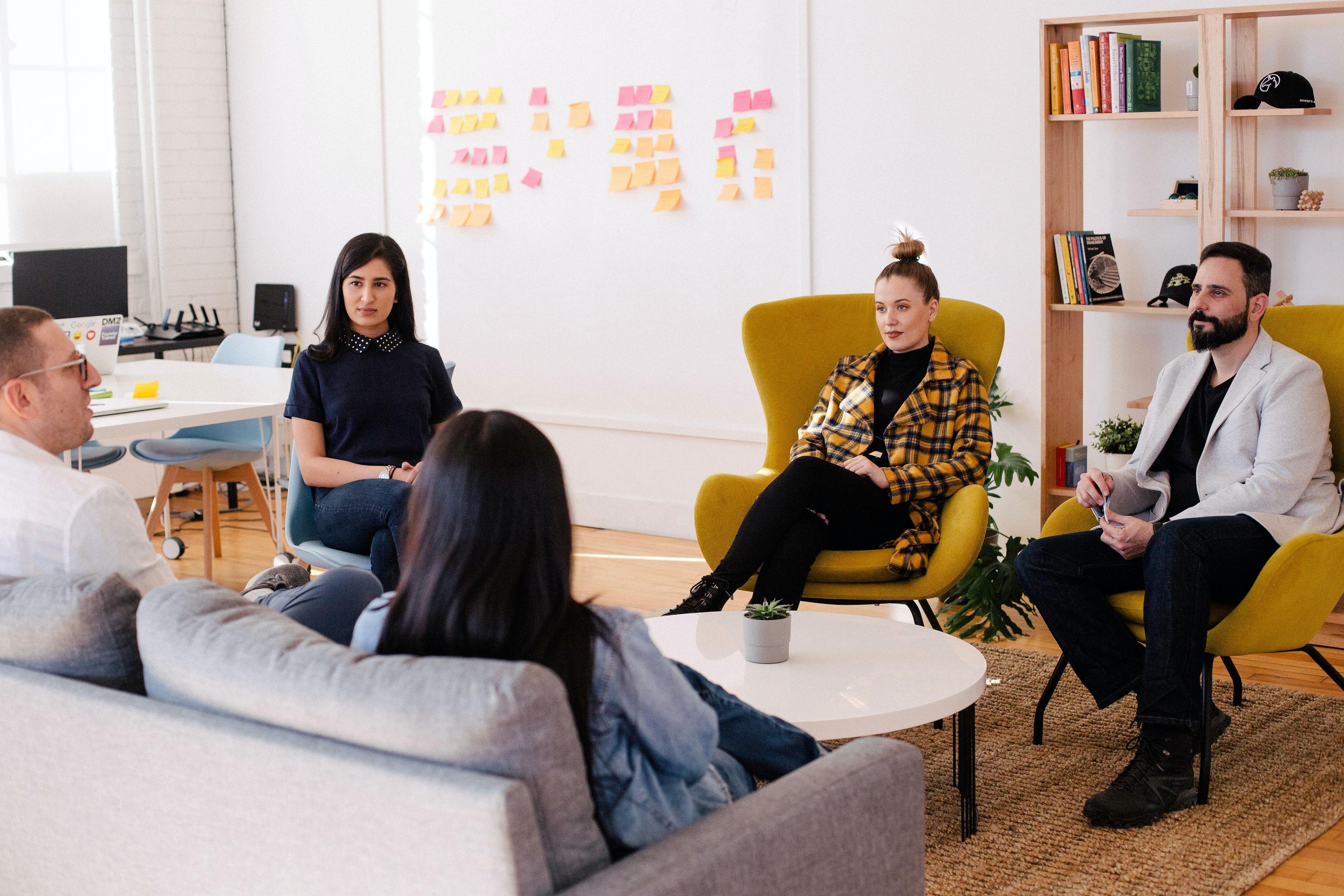 meeting with team members